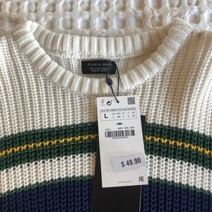 Zara Men's Cable Knit Sweater
